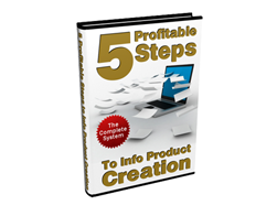 Free PLR eBook – 5 Profitable Steps to Info Product Creation