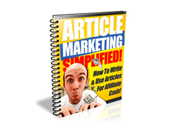 Free PLR eBook – Article Marketing Simplified