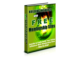 Free PLR eBook – Building Influence with Free Membership Sites