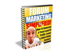 Free PLR eBook – Forum Marketing Simplified