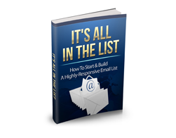 Free MRR eBook – It's All In The List
