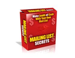 Free PLR eBook – Mailing List Secrets