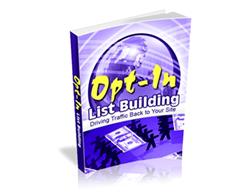 Free PLR eBook – Opt-in List Building