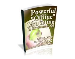 Free PLR eBook – Powerful Offline Marketing in the Internet Age