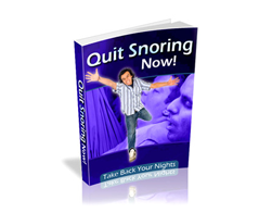 Free PLR eBook – Quit Snoring Now