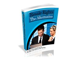 Free PLR eBook – Resale Rights the Alternative