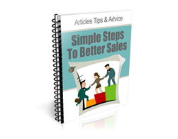 Free PLR Newsletter – Simple Steps to Better Sales