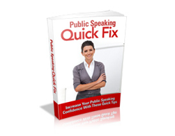 Free MRR eBook – Public Speaking Quick Fix
