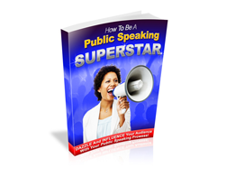Free MRR eBook – How to Be a Public Speaking Superstar