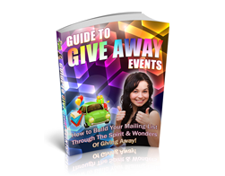 Free PLR eBook – Guide to Give Away Events