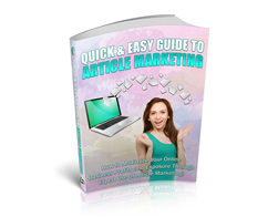 Free PLR eBook – Quick & Easy Guide to Article Marketing