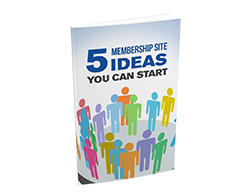 Free MRR eBook – 5 Membership Site Ideas You Can Start