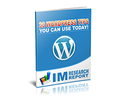 Free MRR eBook – 30 WordPress Tips You Can Use Today!